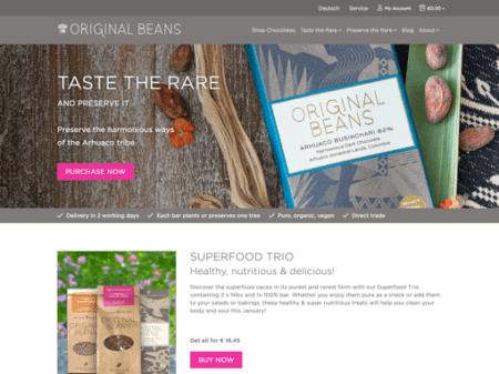 Screenshot of Original Beans