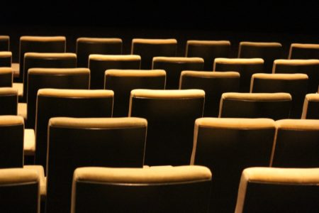 Yellow cinema seats