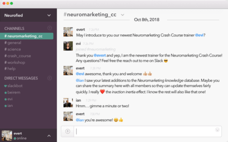 Neuromarketing Crash Course Slack